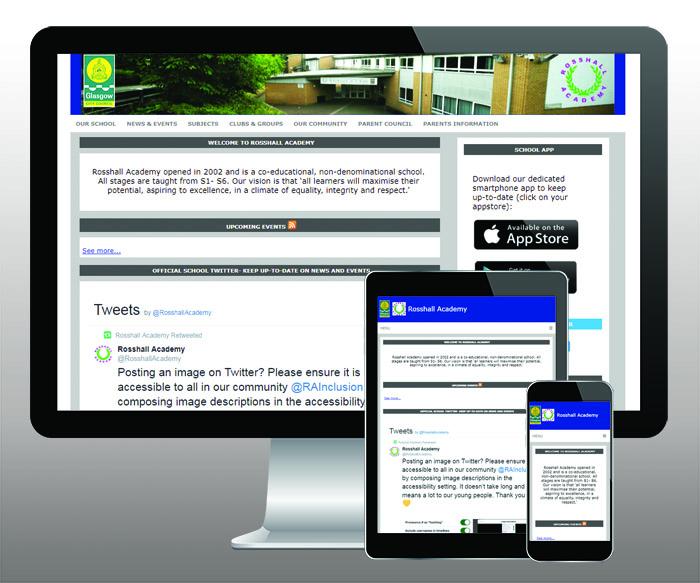 Rosshall Academy website